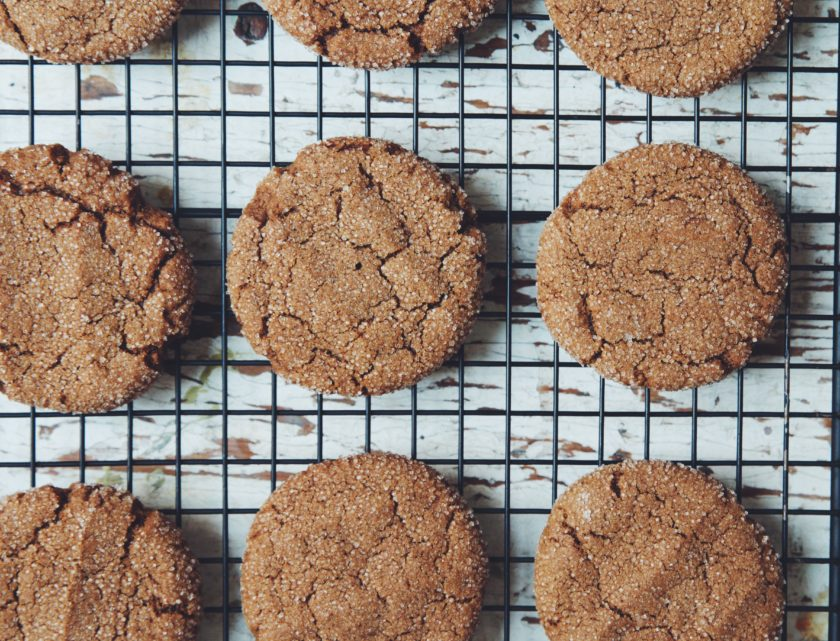 vegan chewy ginger cookies_hot for food