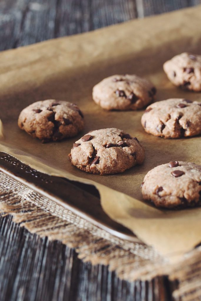 chocolate chip almond cookies_hot for food