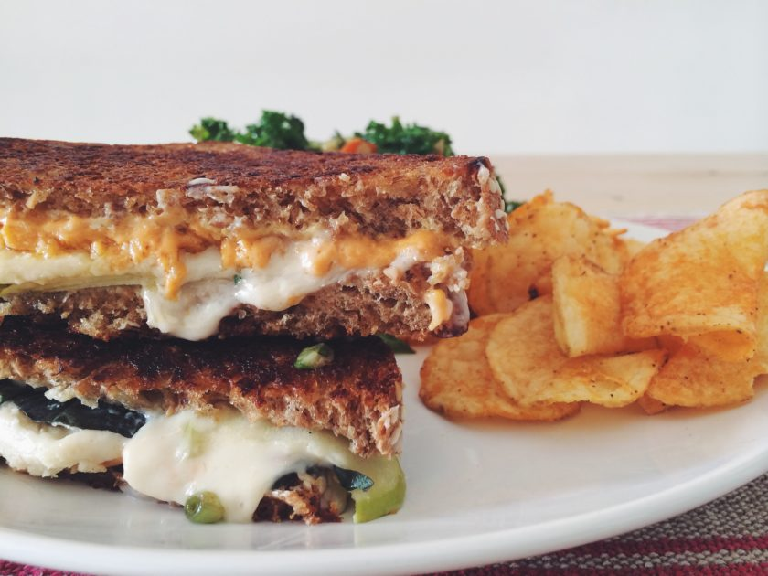 vegan jack and cheddar grilled cheese_hot for food