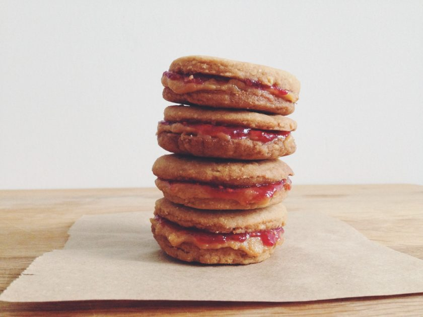 peanut butter and jam sandwich cookies_hot for food