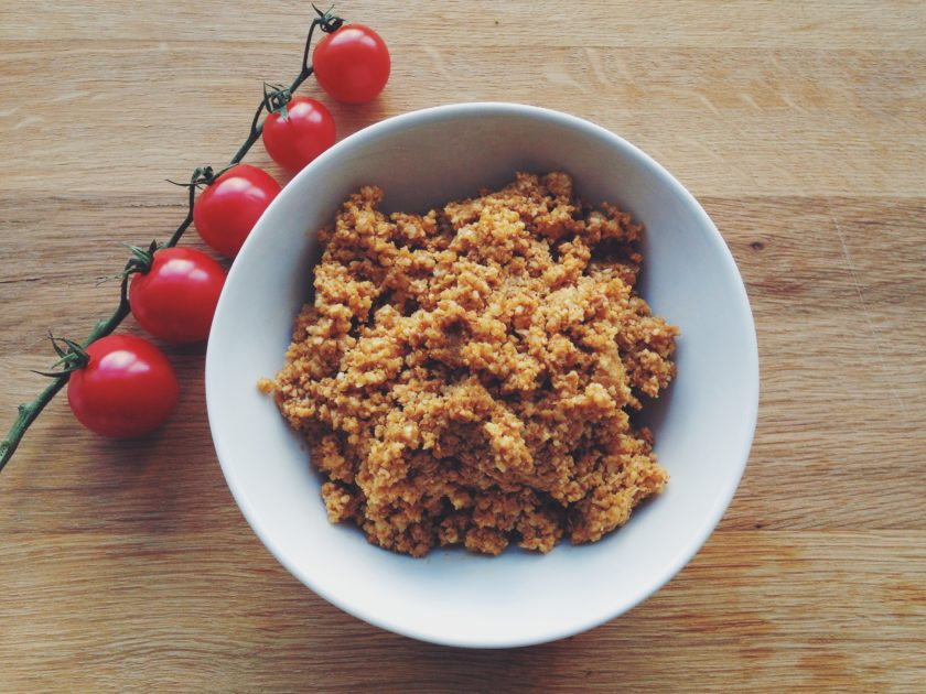 raw walnut meat tacos_hot for food