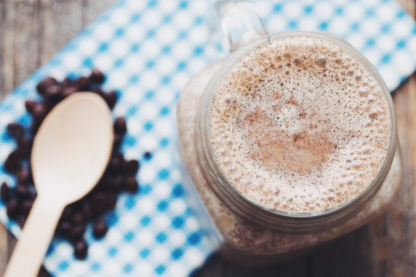 the vanilla latte smoothie_hot for food