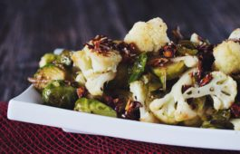 roasted brussels and cauliflower_hot for food