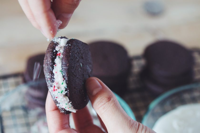 chocolate candy cane sandwich cookies_hot for food
