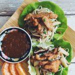 crispy tangerine chili chik'un lettuce wraps_hot for food