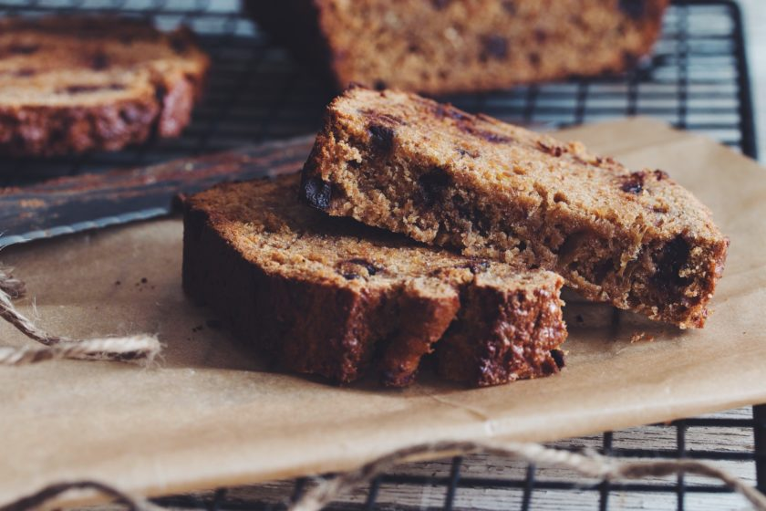 vegan chocolate chip banana bread_hot for food