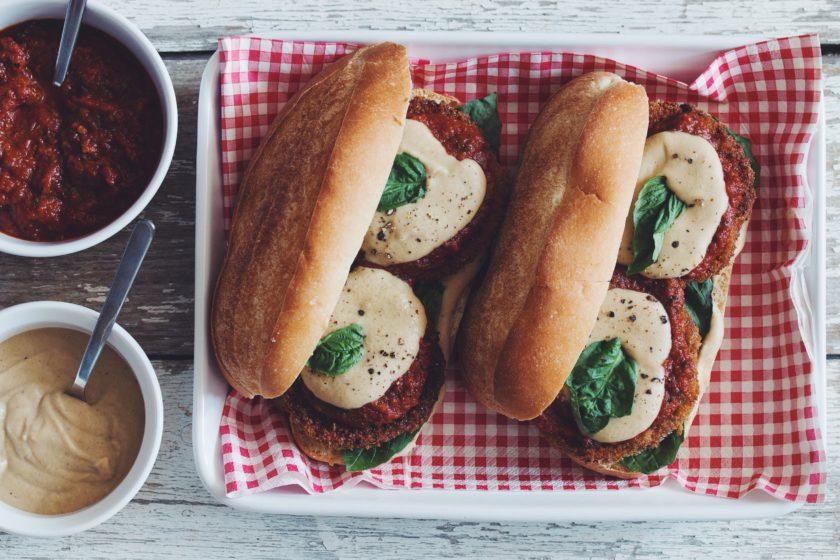 vegan eggplant parmesan subs_hot for food