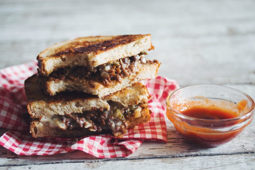 spicy grilled beef cheese sandwich_hot for food