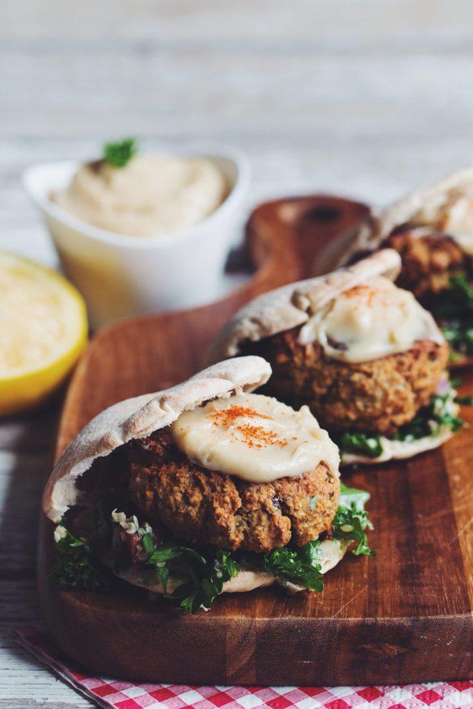 vegan mushroom falafel sliders