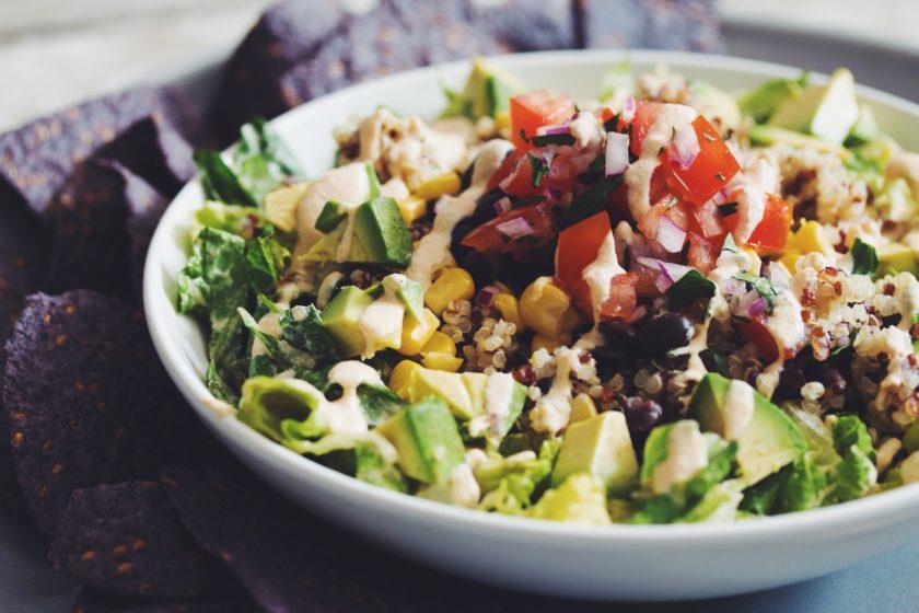 rainbow quinoa taco salad_hot for food