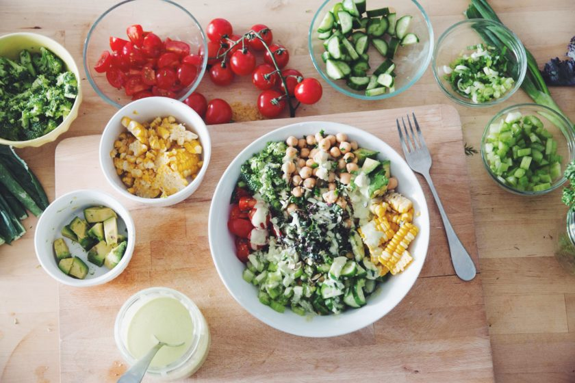 vegan chop salad with creamy herb dressing_hot for food