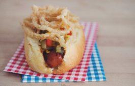 vegan hot dog with jalapeño corn relish_hot for food