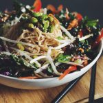 asian noodle salad with edamame