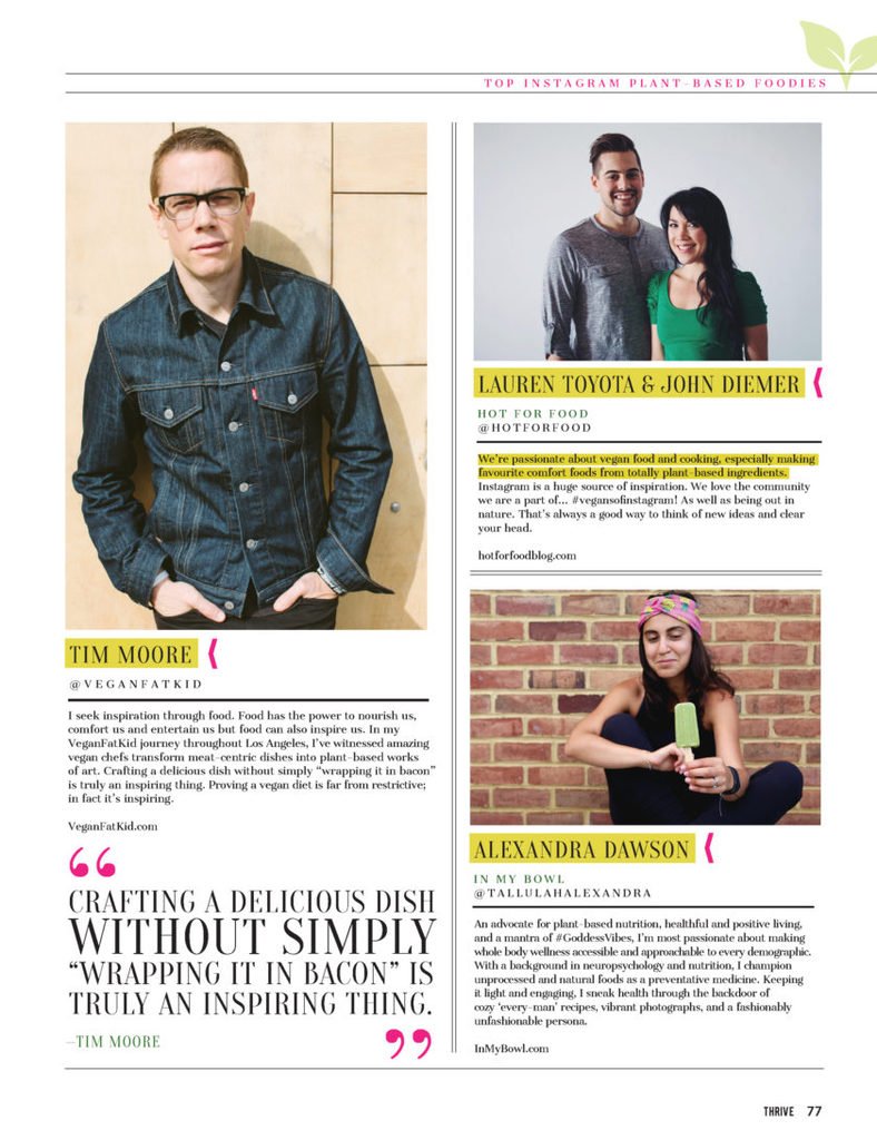 Thrive Issue 4 -Top Plant-Based Insta Foodies p9