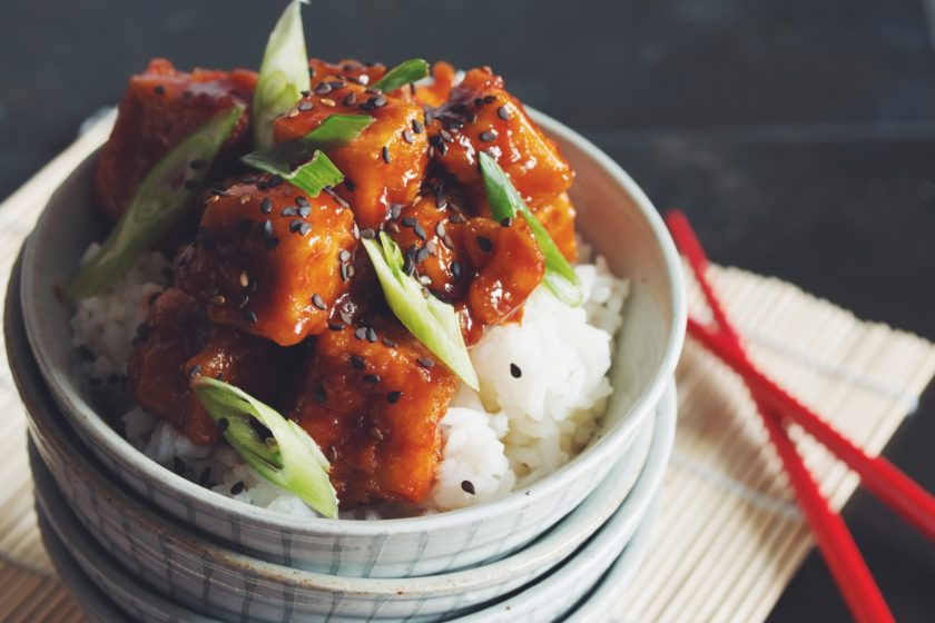 crispy sweet & sour tofu_hot for food
