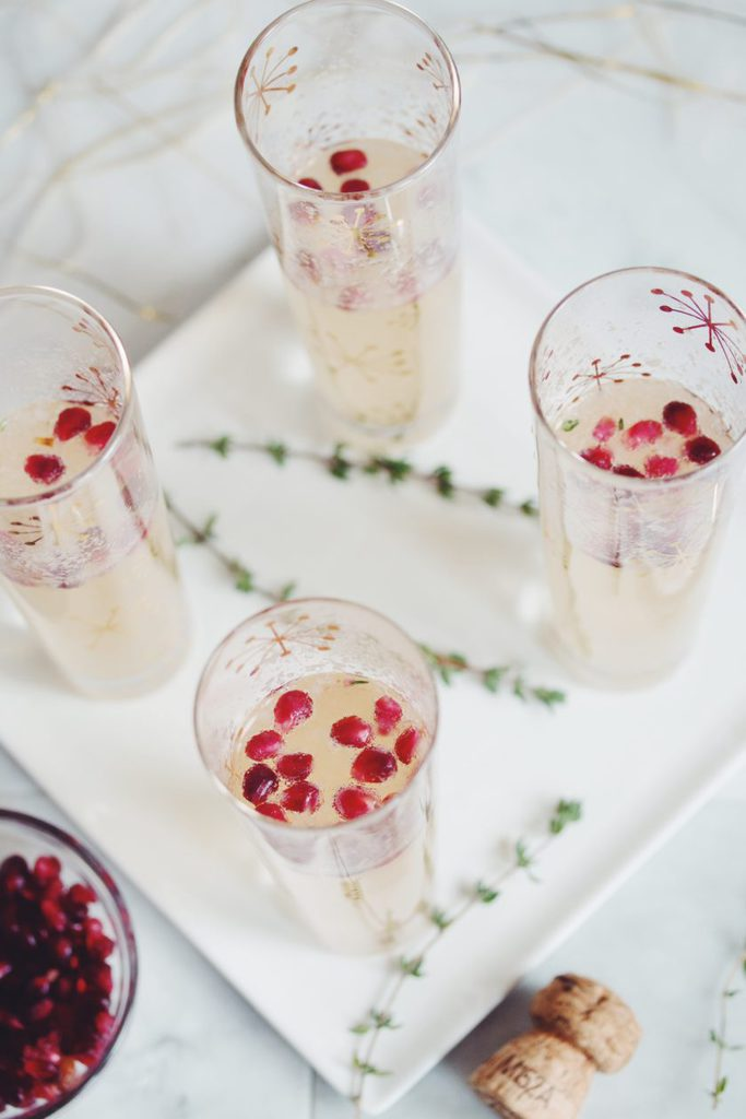 pear and pomegranate champagne cocktail_hot for food