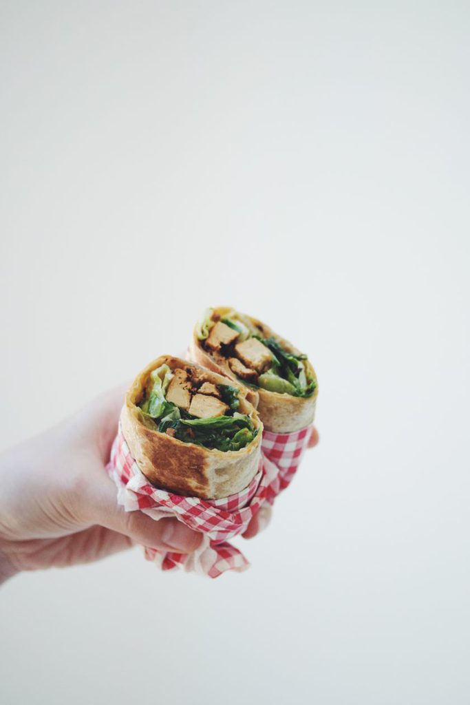 vegan chicken caesar wraps_hot for food