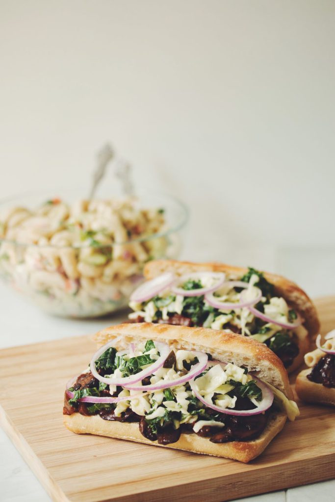 vegan pulled bbq mushroom sandwiches_hot for food