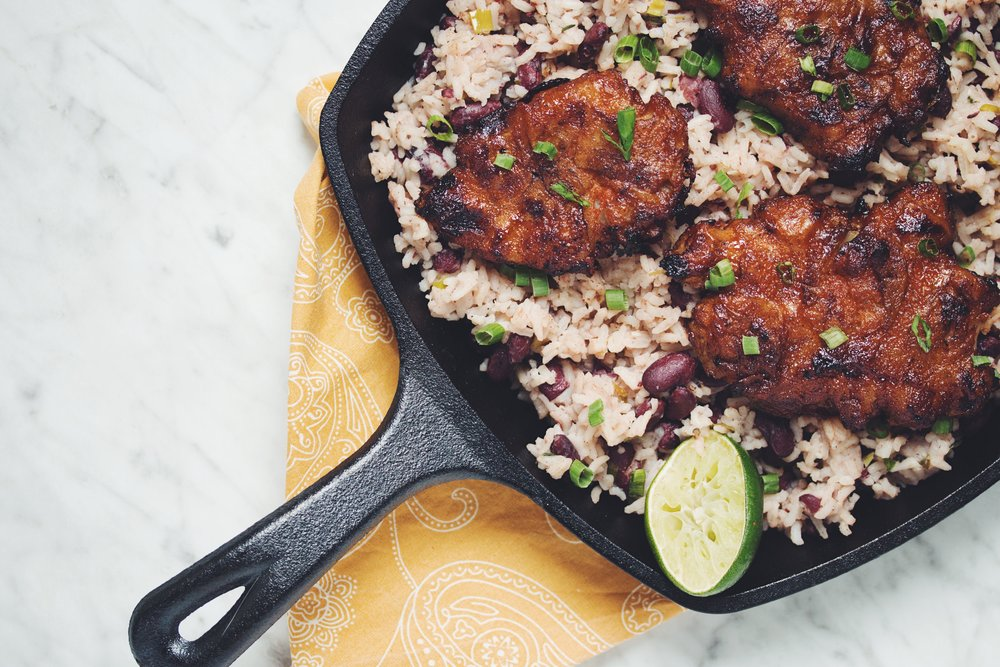 Spiced Rum Jerk Sunchokes With Rice Beans Hot For Food