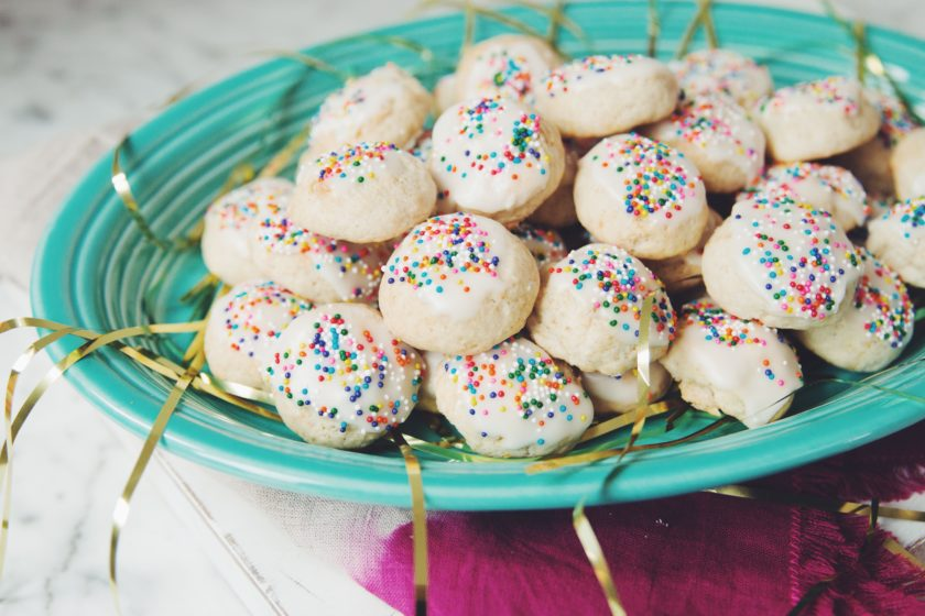 vegan Italian anginette cookies