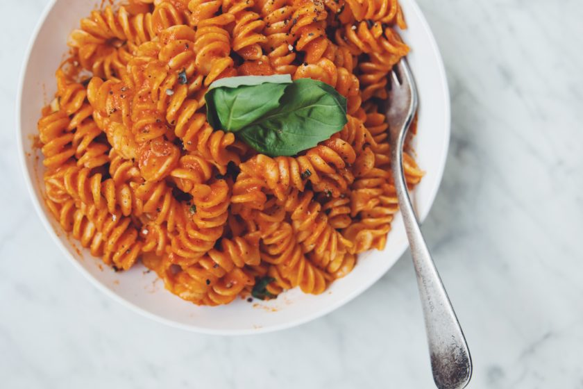 roasted red pepper pasta_hot for food