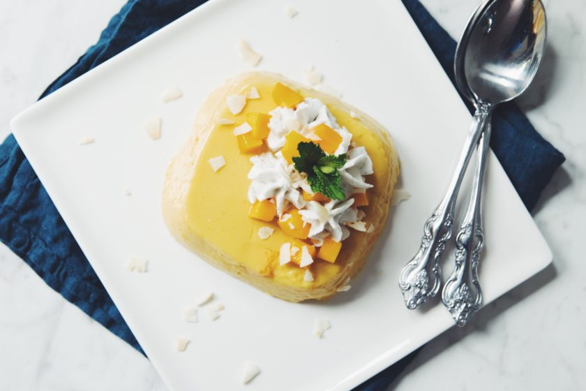 vegan mango pudding_hot for food