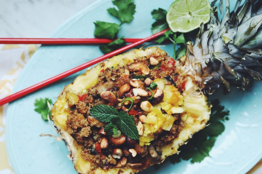 pineapple fried quinoa_hot for food