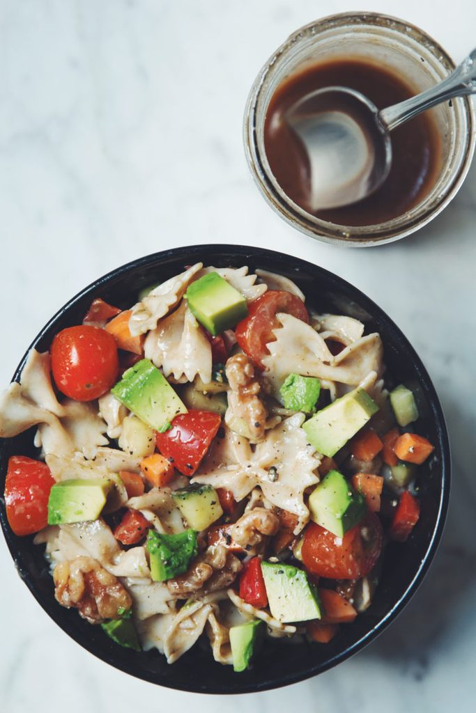 veggie pasta with balsamic dressing_hot for food
