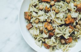 sweet potato chickpea pasta salad_hot for food