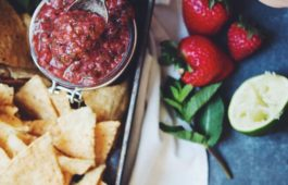roasted strawberry & poblano pepper salsa_hot for food