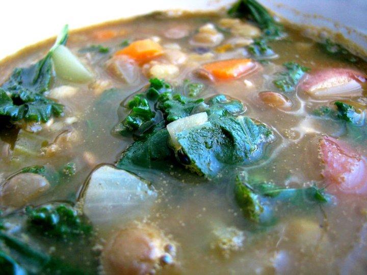 kale lentil soup_hot for food