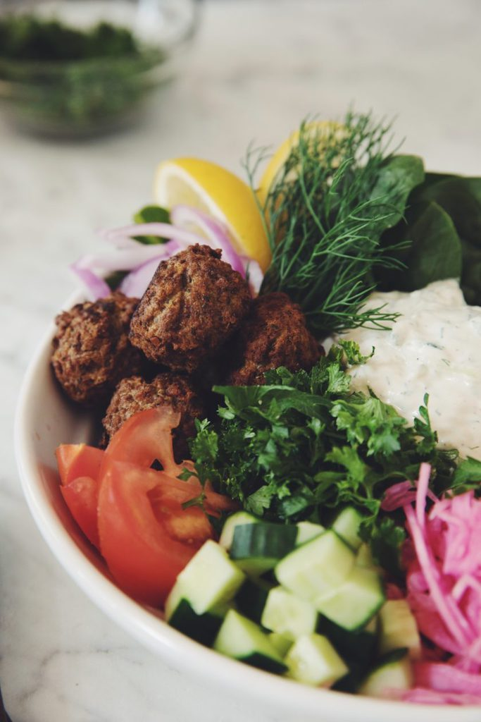 vegan falafel bowls with roasted cauliflower_hot for food