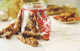 vegan golden chocolate caramel pretzel rods_hot for food