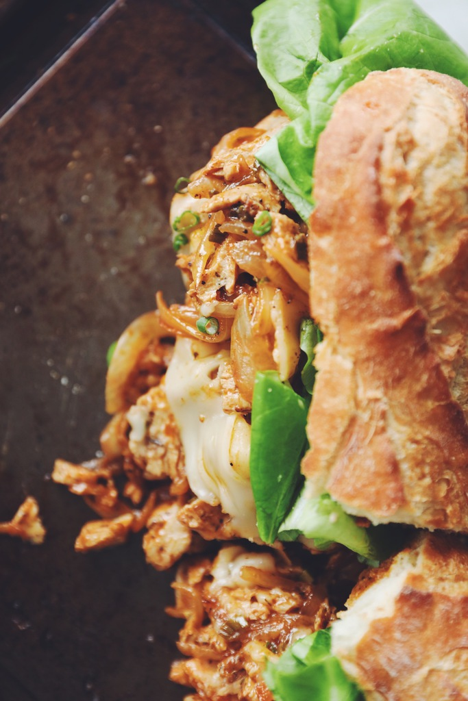 vegan buffalo chicken melts_hot for food