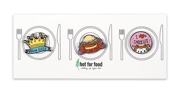 hot for food pin set_the yetee