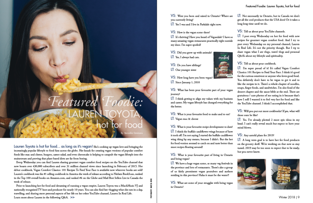 ontario vegans magazine_hot for food