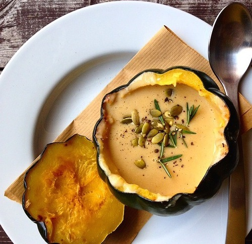 acorn squash soup_hot for food