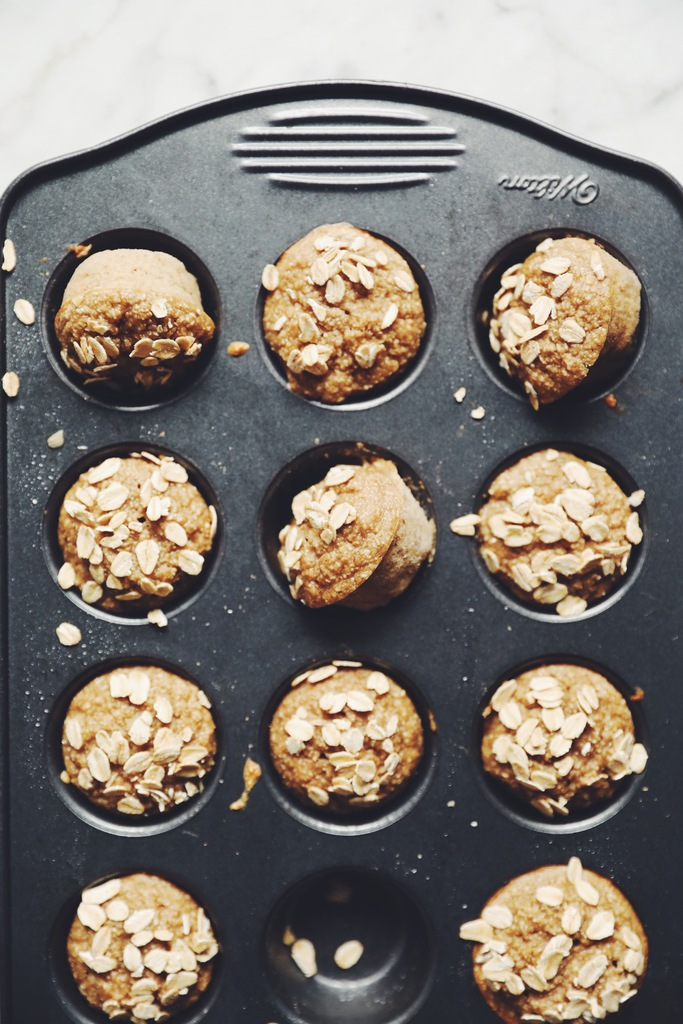 banana oat muffins_hot for food