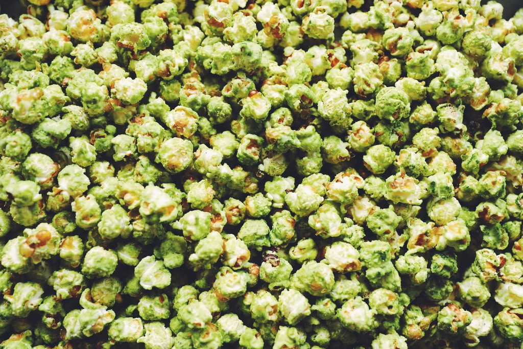 matcha caramel popcorn_hot for food