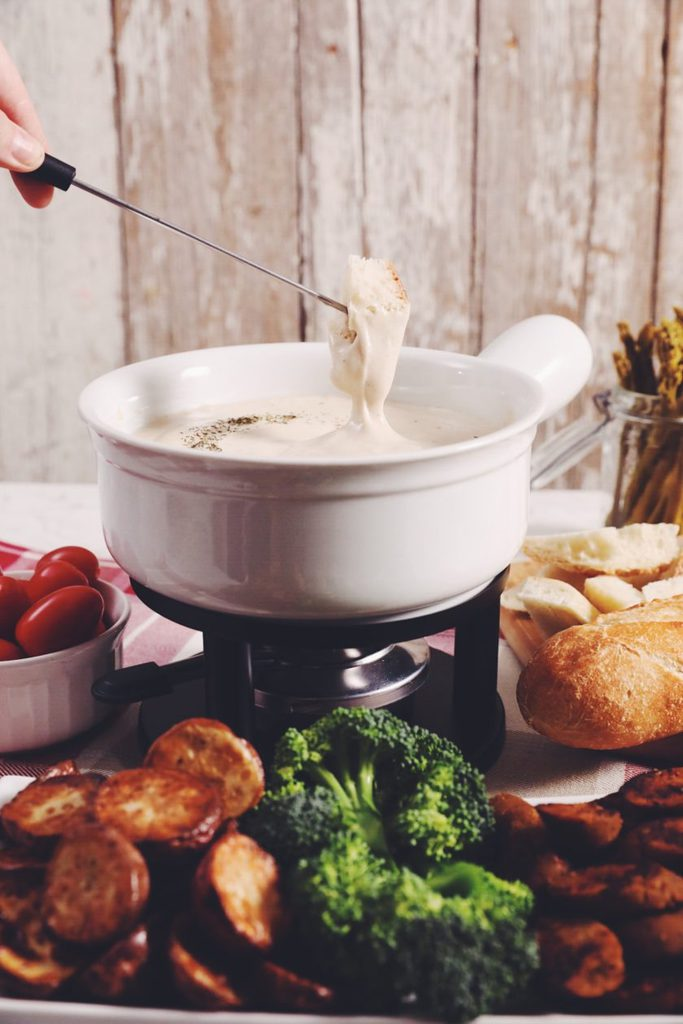 the ultimate vegan beer cheese fondue_hot for food