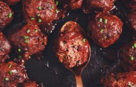 vegan sweet sour meatballs_hot for food
