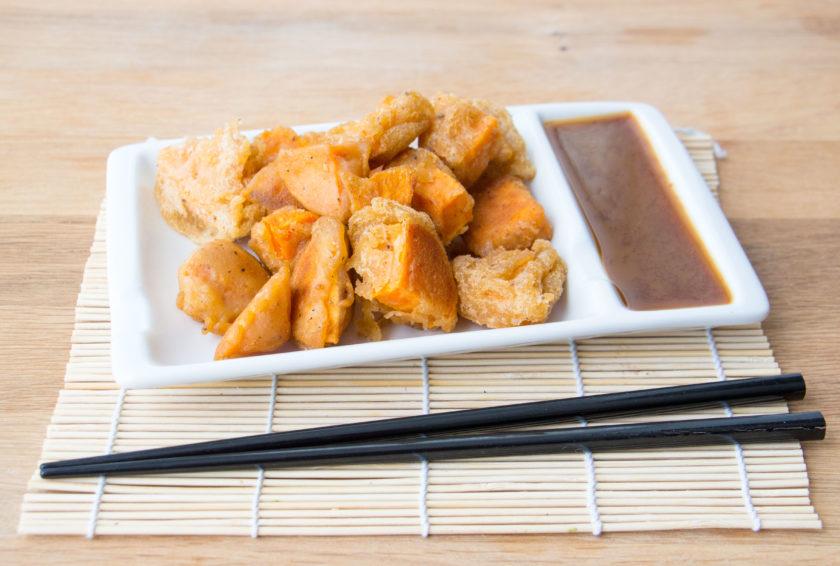 yam tempura_hot for food