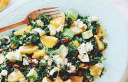 orange kale avocado salad_hot for food