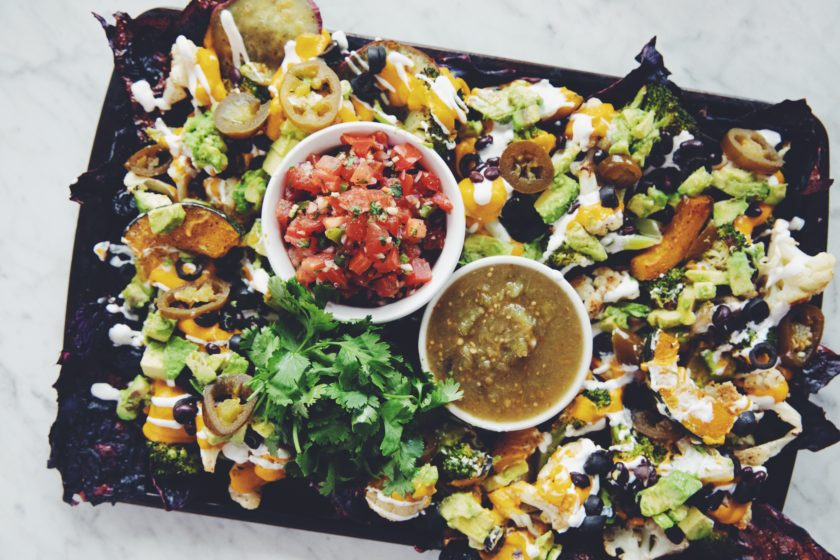 roasted veggie sheet pan nachos_hot for food