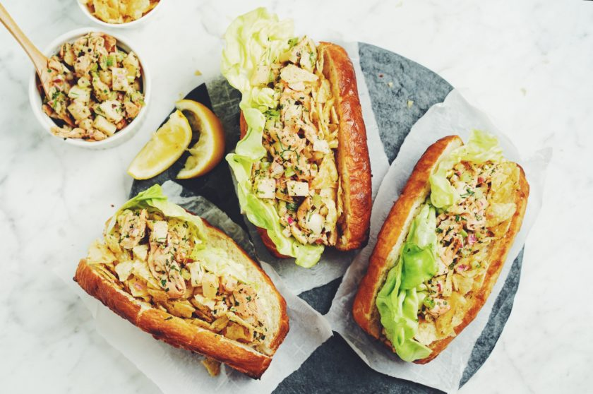 vegan lobster roll_hot for food