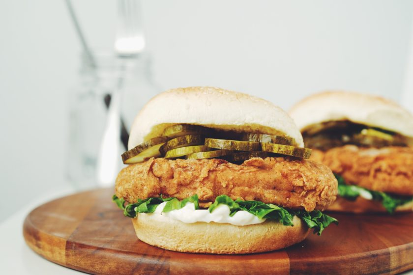 the ultimate vegan fried chicken sandwich_hot for food