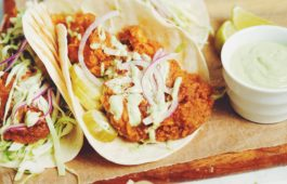 vegan nashville hot chicken taco_hot for food