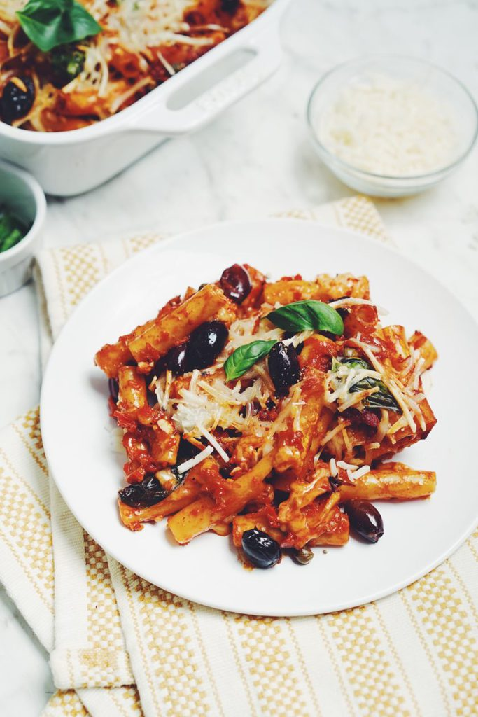 baked puttanesca ziti_hot for food