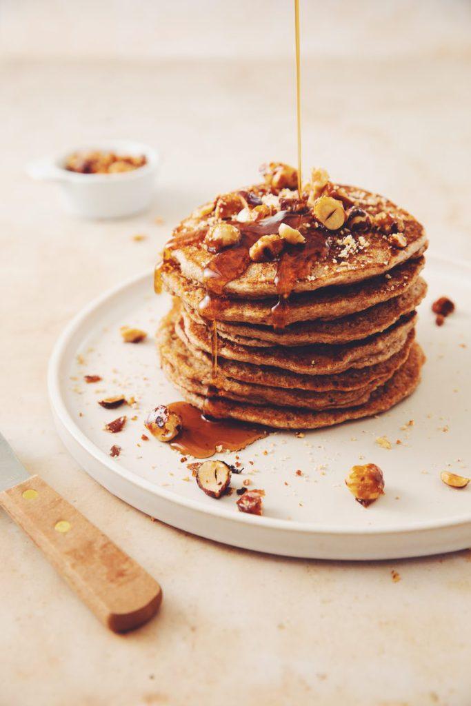 vegan hazelnut pancakes_hot for food
