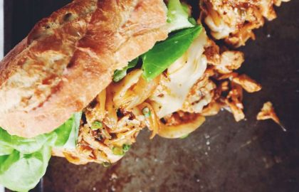 vegan buffalo chicken melts_hot for food